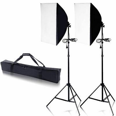 Set of Softbox Stand Photography Photo Equipment Light