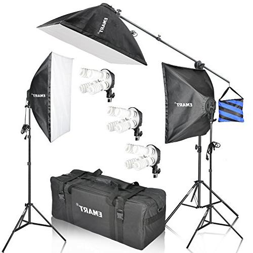softbox photography lighting kit