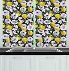 Summer Lemon Kitchen Curtains 2 Panel Set Window Drapes 55""