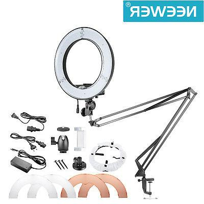 Neewer Table Top 14-inch Outer Dimmable LED Ring Light Light