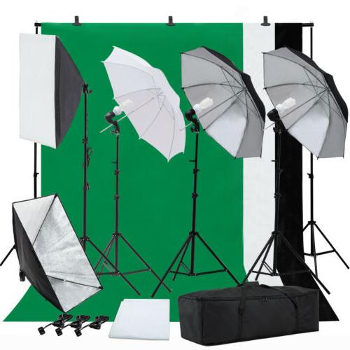 Umbrella Softbox Muslin Photography Lighting Photo Studio Ba