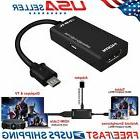 US MHL Micro USB Male to HDMI Female Adapter Cable for Andro