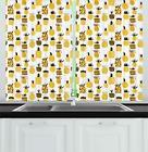 Yellow Kitchen Curtains 2 Panel Set Home Decor Window Drapes