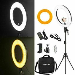 LED SMD Ring Light 18 Inch Kit with Stand Dimmable 5500K for