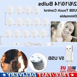 LED Vanity Lights Kit USB Touch Control Dimmable Fixture Str