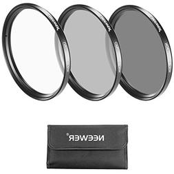 Neewer 77MM Lens Filter Kit with Pouch for Canon EOS EF 24-1