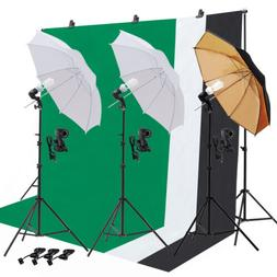 Light Bulb Muslin Backdrop Stand Photo Studio Photography Um