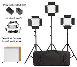 LED Video Light Lighting Kit,Metal Dimmable 660Pro Continuou