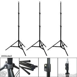 3 x 7ft Light Stand Photo Video Studio Lighting Photography