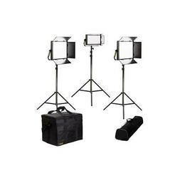 Ikan LW-2F1H Lyra Daylight 3-Point LED Soft Panel Light Kit,