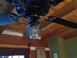 mason jar ceiling fan light kit