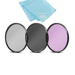 58mm Multi-Coated 3 Piece Filter Kit  for Canon Rebel T5, T6