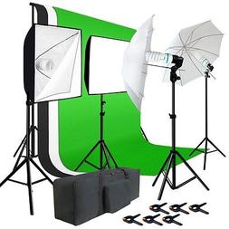 Julius Studio Photo Studio Kit 6 x 9 ft. Green White Black M