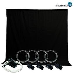 LimoStudio Photo Video Studio 5x10ft Black Muslin Backdrop B