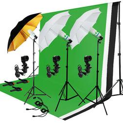 Photo Photography Umbrella Lighting Kit Studio Light Bulb Mu