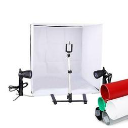 "Photo Studio 24"" Photography Lighting Tent Kit Backdrop Cube"