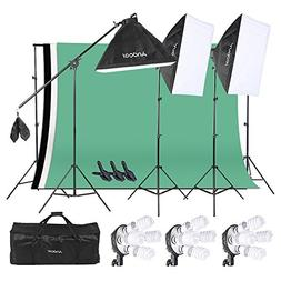 Andoer Photography Softbox Backdrop Lighting Kit, Photo Vide