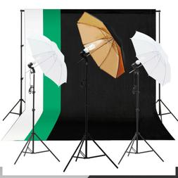 Photo Studio Lighting Photography 3 Backdrop stand Muslin Li