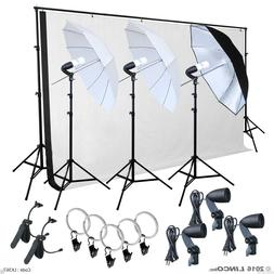 Photo Studio Lighting Photography Backdrop stand Muslin Ligh