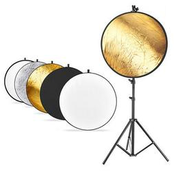 Neewer Photo Studio Lighting Reflector with Stand and Reflec
