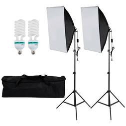 Photography 2pcs Softbox Light Kit Photo Studio Continuous L