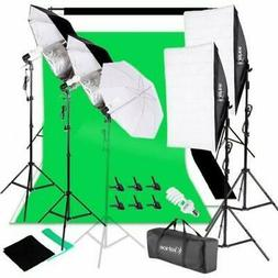 Photo Studio Photography Lighting Kit Umbrella Softbox Backd