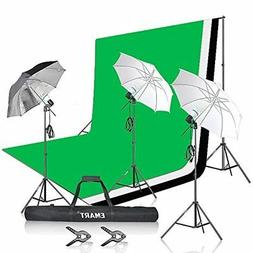 Emart Photo Studio Photography 1500W 5500K Umbrella Lighting