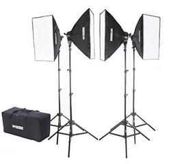Fovitec StudioPRO 4000 Watt Photography Continuous Studio So
