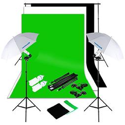 Excelvan Photography Lighting Kit 10x6.5FT 1250W Daylight Um