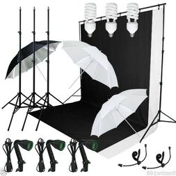 Photography Lighting Muslin Backdrop Stand Studio Kit Linco