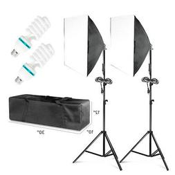 2 PCS Photography Lighting Softbox Stand Photo Equipment Sof