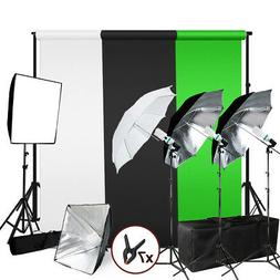 Photography Photo Studio Lighting Kit Umbrella Softbox Musli