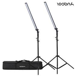Andoer Photography Studio LED Lighting Kit Dimmable LED Vide