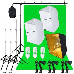 Photography Studio Lighting Kit 3 Point Light Backdrop Stand