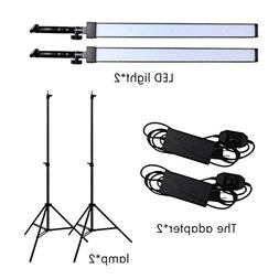 GSKAIWEN Photography Studio LED Lighting Kit Adjustable Ligh