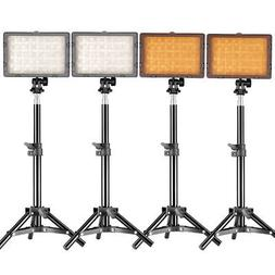 Neewer Photography 4x160 LED Studio Lighting Kit, Includes C