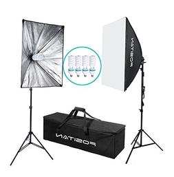 FOSITAN 1600W LED Photography Studio Lighting Light Kit Soft