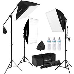 CRAPHY Professional Photo Studio Soft Box Lights Continuous