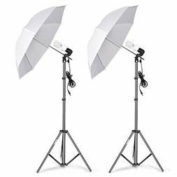 Emart Photography Umbrella Lighting Kit, 400W 5500K Photo Po