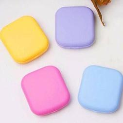 Pocket Plastic Contact Lens-Case Kit Outdoor Travel Mirror C