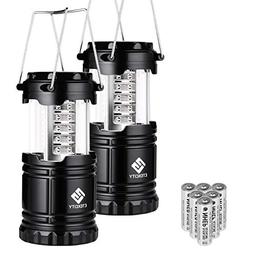 Etekcity 2 Pack Portable LED Camping Lantern Flashlights wit