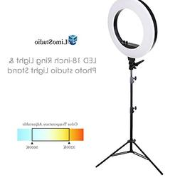 LimoStudio LED 18 inch Ring Light Multi Color Temperature 32