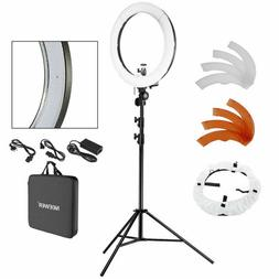 "Neewer Ring Light Kit, 18""/48cm Outer 55W 5500K Dimmable LED"