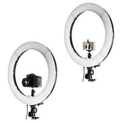 """NEEWER RING LIGHT KIT 18"""" OUTER 55W 5500K DIMMABLE STAND & C"""