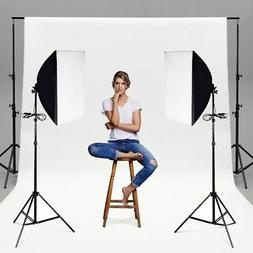 Set of 2 Lighting Softbox Stand Photography Photo Equipment
