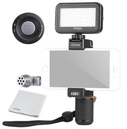 Movo Smartphone Video Kit V4 with Grip Rig, Mini Directional