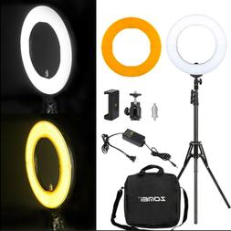 """SMD LED 18"""" Ring Light Dimmable 5500K Continuous Lighting Ph"""