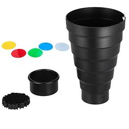 Snoot with Honeycomb Grid 5pcs Color Filter Kit for Elinchro