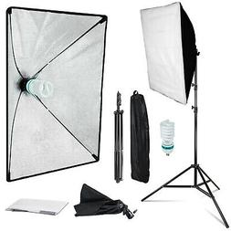 Softbox Continuous Lighting Stand Kit Photo Video for Photog