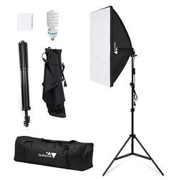 Amzdeal Softbox Lighting Kit Photography Studio Lighting Kit